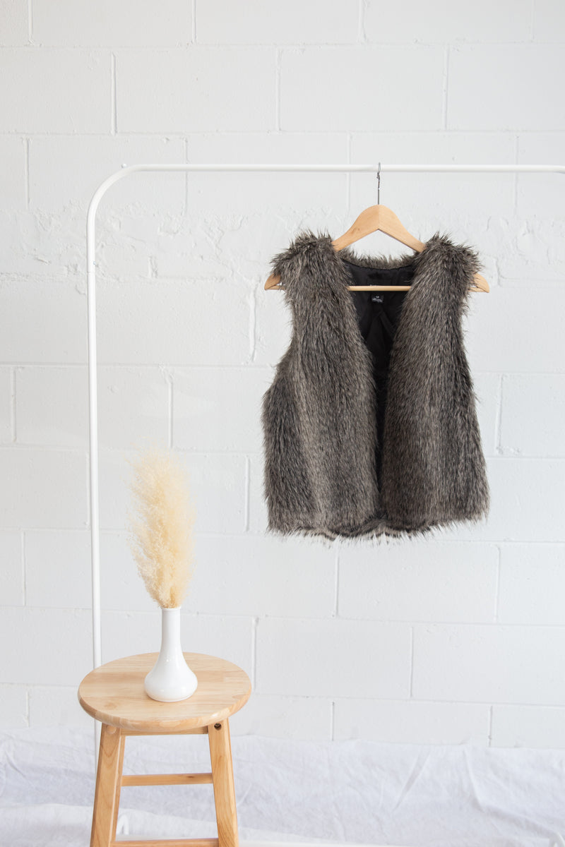 Club Monaco Faux Fur Vest - S