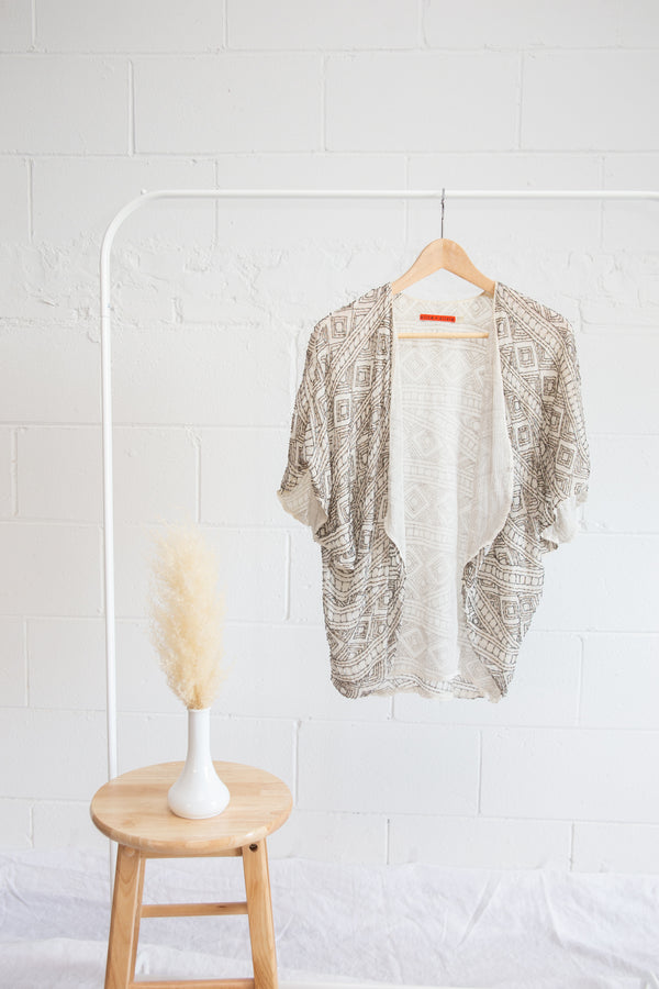 Alice & Olivia Sequin Shawl - XS