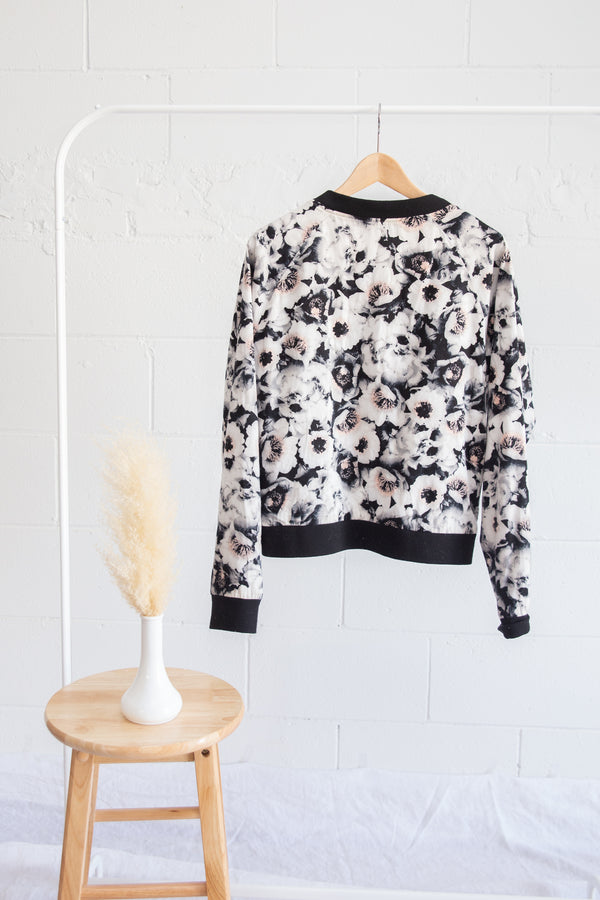 Second Female Floral Bomber Jacket - L