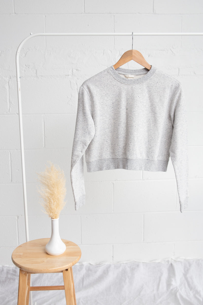 H&M Grey Crop Sweater - XS
