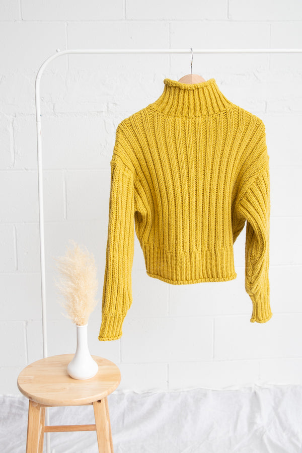 H&M Chartreuse Knit Sweater - XS