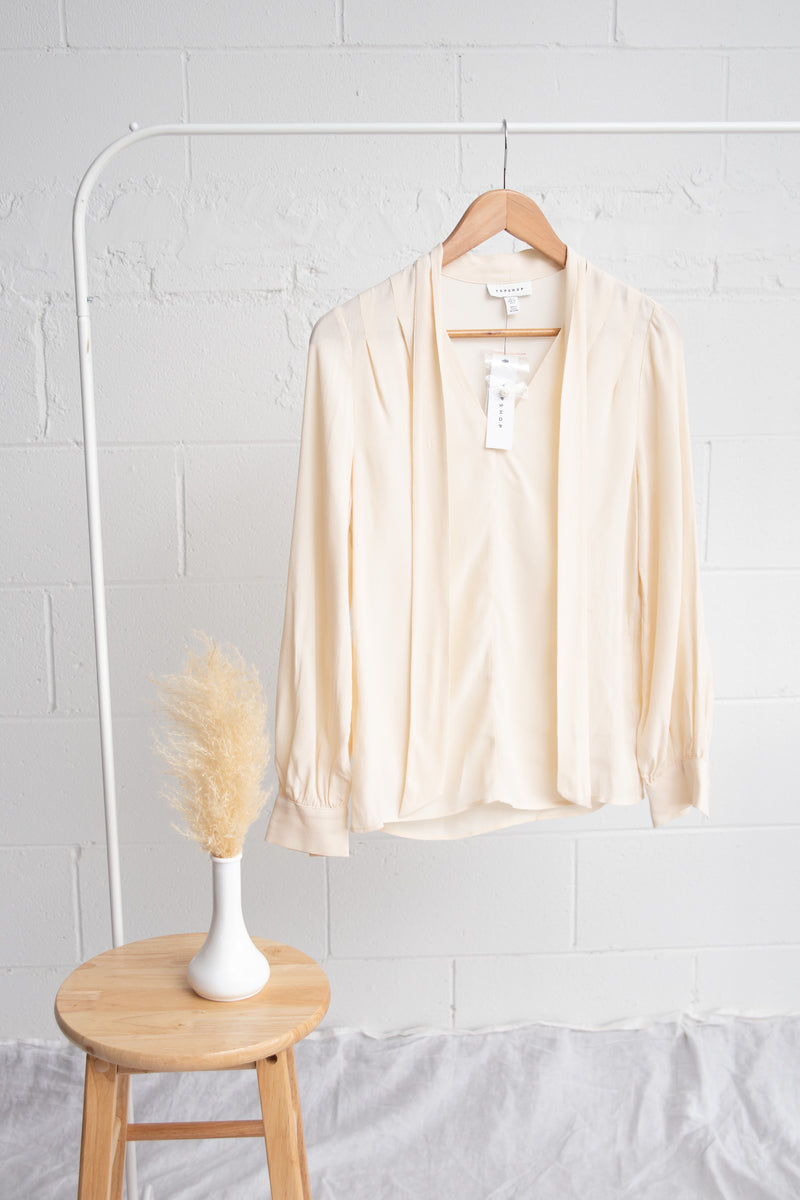 Topshop Cream Blouse - 2