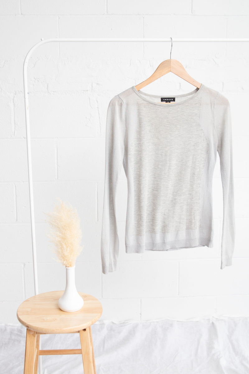Grey Trouve Sweater - XS