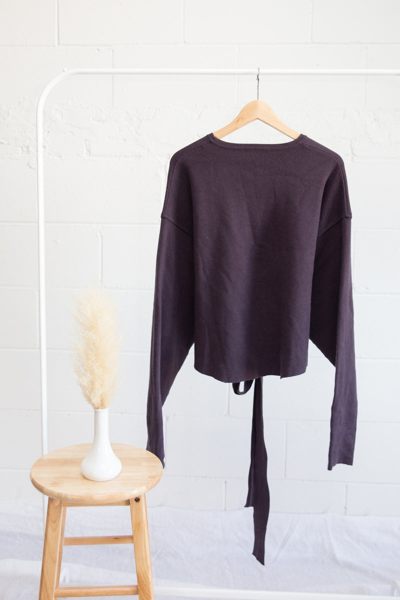 Zara Wrap Sweater - S