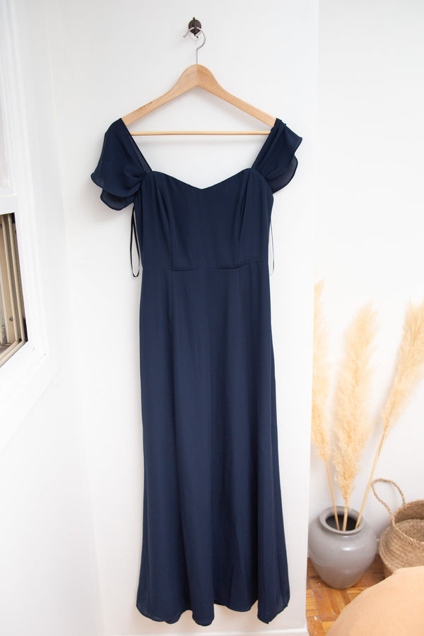 Navy Blue Gown - S