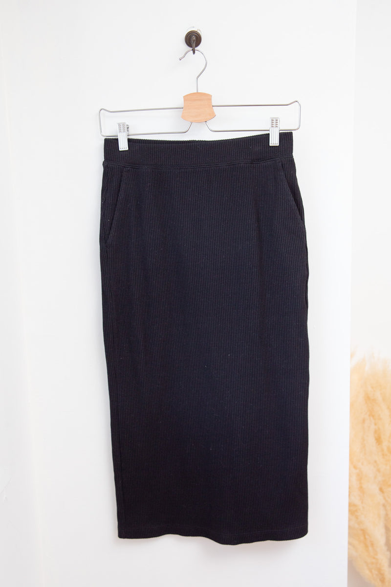 Uniqlo Ribbed Midi Pencil Skirt - XS/S