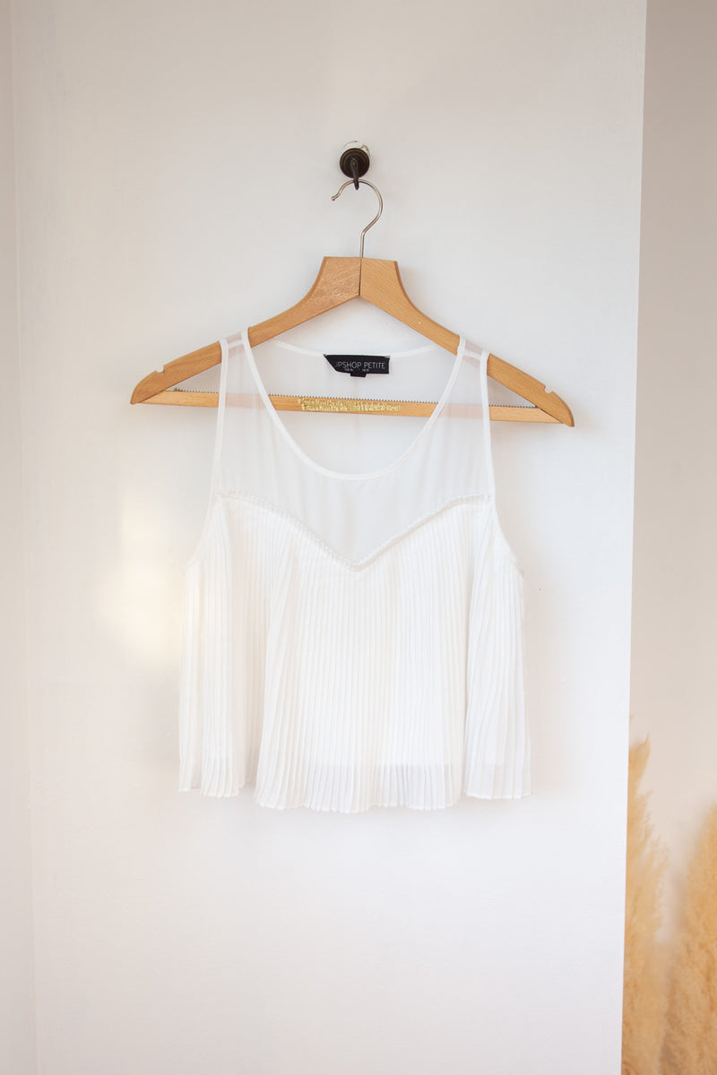 White TopShop Crop -  6/S