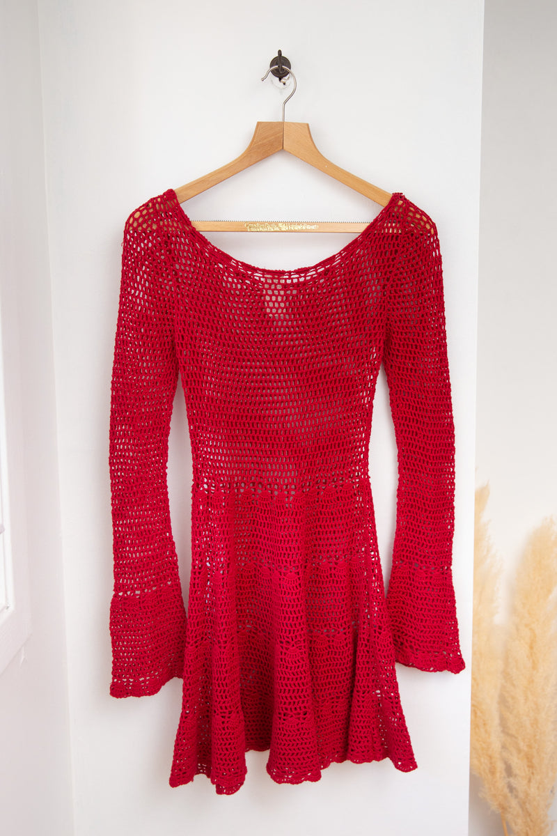 Free People Crochet Dress - S
