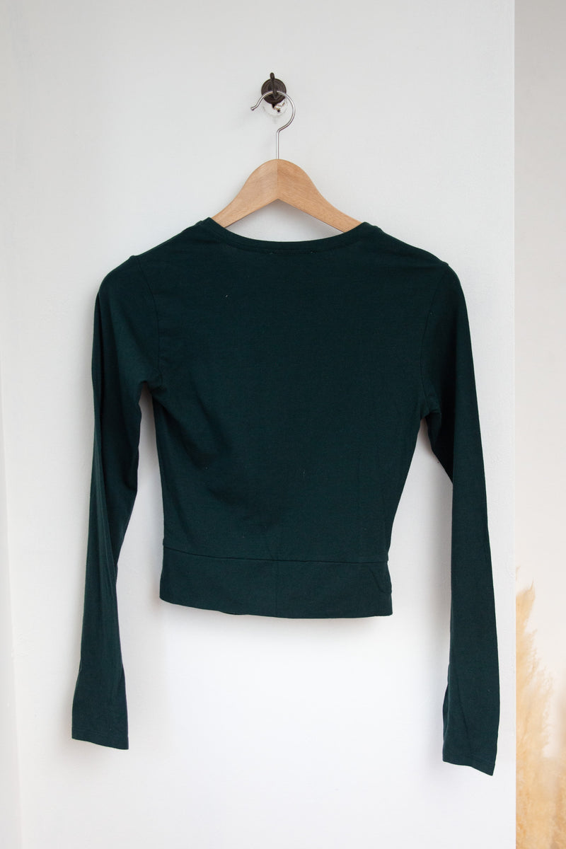 Zara Trafaluc Long Sleeve Crop - M
