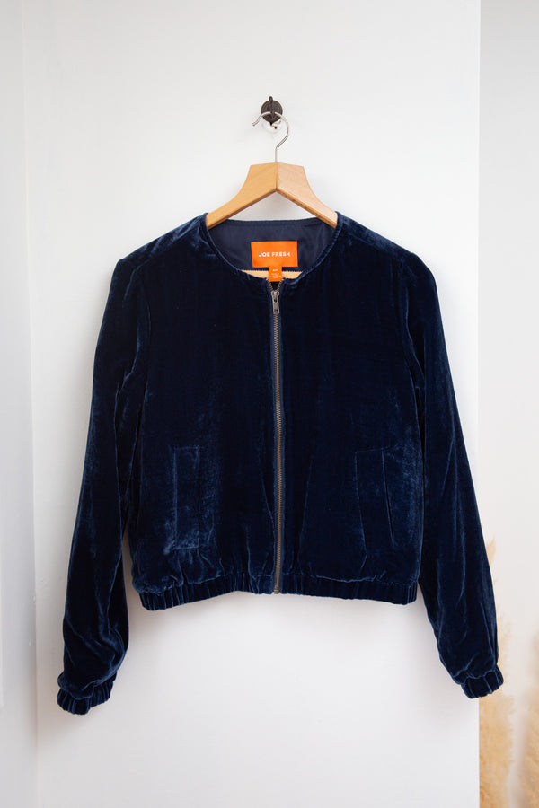 Joe Fresh Velvet Bomber - S