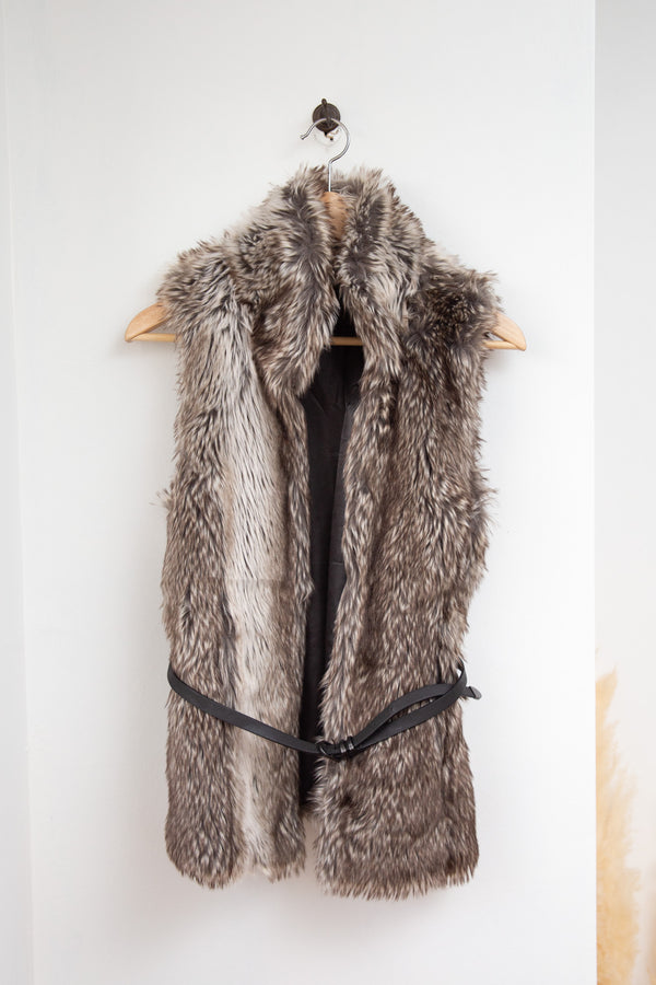Only Faux Fur Vest - M