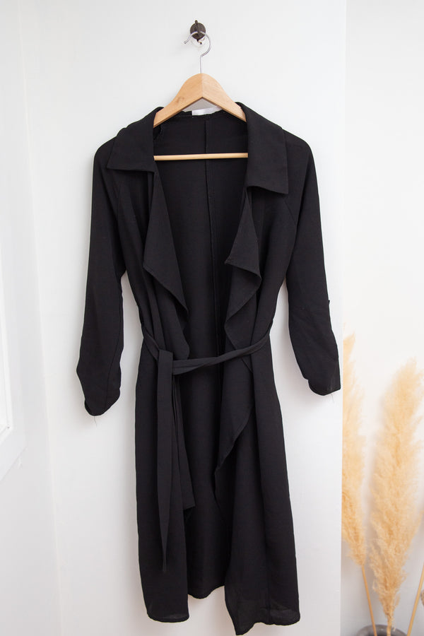 Mendocino Black Duster Jacket - S