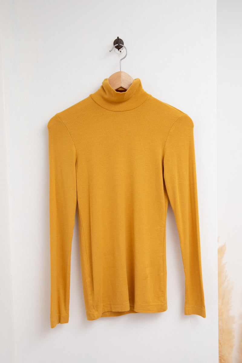 Wilfred Mustard Yellow Turtle Neck - S