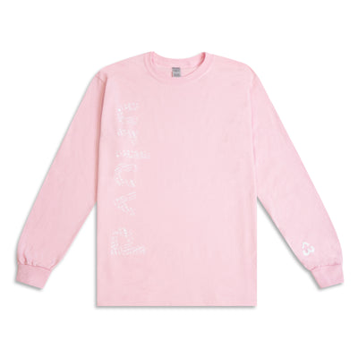 pink ur luv'd long sleeve tee