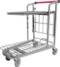 Load image into Gallery viewer, Garden Center Cart With Flat Tray & Red Handle