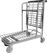 Load image into Gallery viewer, Garden Center Cart With Folded Flat Tray & Red Handle