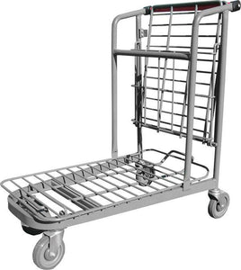 Garden Center Cart With Folded Flat Tray & Red Handle
