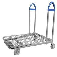 Flat Material Handling Warehouse Cart With Blue Handles