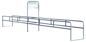 Two-Way Single Cart Corral With Thank You Sign