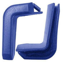 Load image into Gallery viewer, Set of 2 Top Corner Blue Plastic Bumpers for Shopping Carts