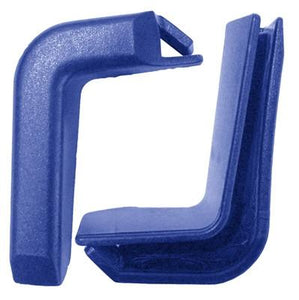 Set of 2 Top Corner Blue Plastic Bumpers for Shopping Carts