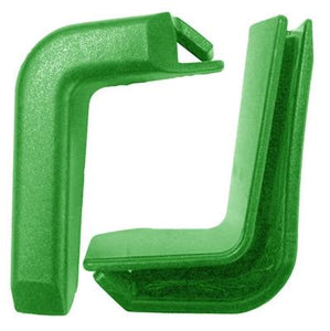 Set of 2 Top Corner Green Plastic Bumpers for Shopping Carts
