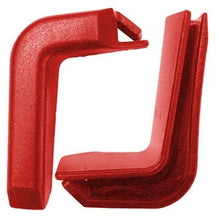 Load image into Gallery viewer, Set of 2 Top Corner Red Plastic Bumpers for Shopping Carts