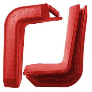 Set of 2 Top Corner Red Plastic Bumpers for Shopping Carts