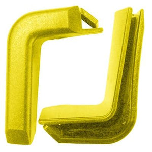 Set of 2 Top Corner Yellow Plastic Bumpers for Shopping Carts