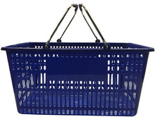 Load image into Gallery viewer, Blue Plastic Jumbo Hand Basket