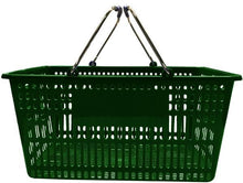Load image into Gallery viewer, Green Plastic Jumbo Hand Basket