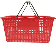 Load image into Gallery viewer, Red Plastic Jumbo Hand Basket