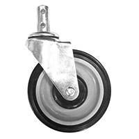 "5"" Round Stem Swivel Caster .810"""