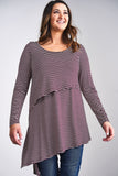 Latched Mama Asymmetrical Nursing Tunic - Last Chance