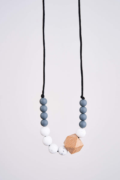 Latched Mama Wooden Geometric & Silicone Teething Necklace