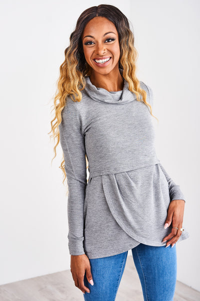 Latched Mama Petal Front Nursing Pullover