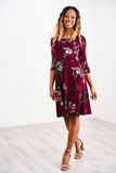 Latched Mama 3/4 Sleeve Drawstring Nursing Dress 2.0 - Last Chance