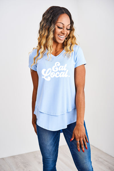 Eat Local V-Neck Tee