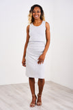 Latched Mama Maternity & Postpartum Fitted Nursing Tank Dress - Last Chance