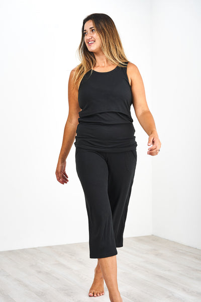 Latched Mama Nursing Tank and Pant Lounge Set