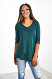 Latched Mama 3/4 Sleeve Scoop Neck Nursing Top 2.0