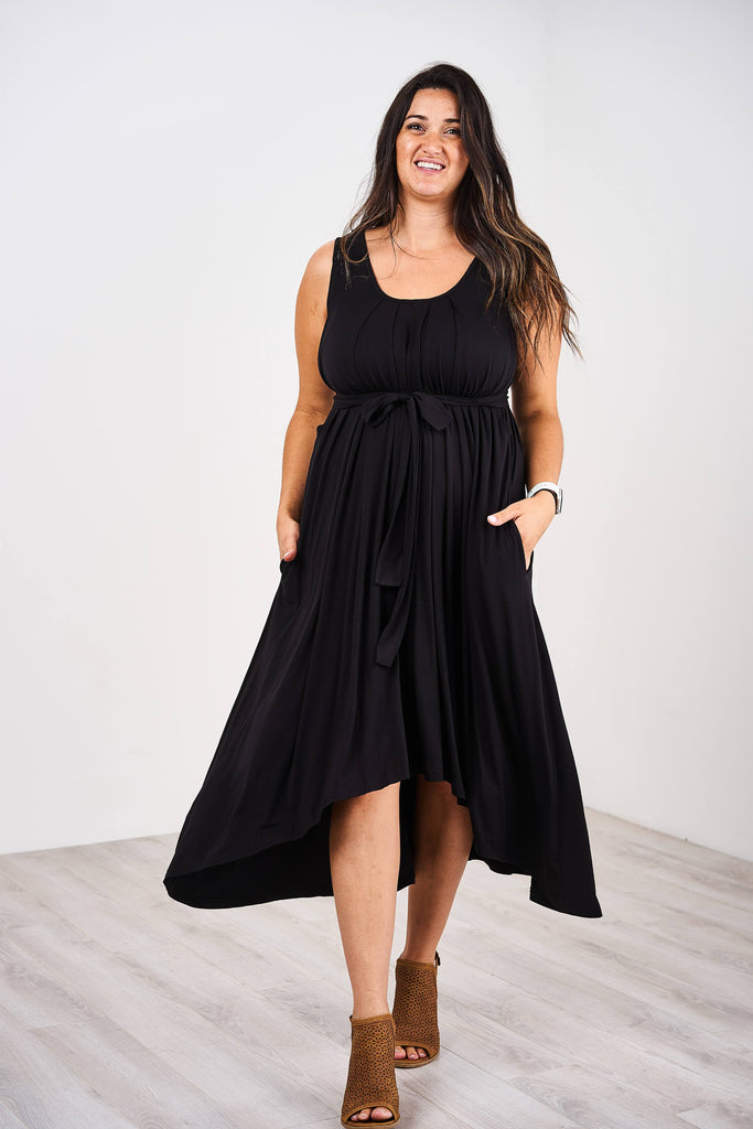 Latched Mama Pleated Nursing Dress