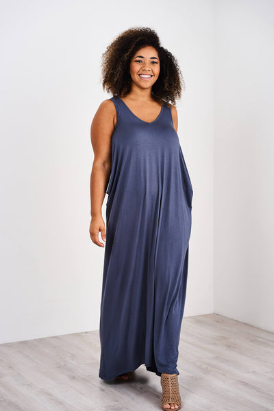 Latched Mama Cocoon Maxi Nursing Dress