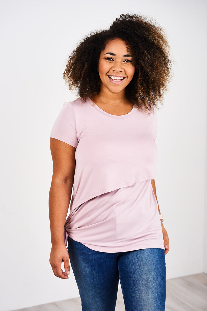 Latched Mama Asymmetrical Nursing Tunic Tee