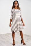 Latched Mama 3/4 Sleeve Swing Nursing Dress- Last Chance