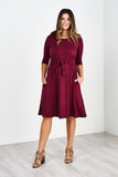 Latched Mama 3/4 Sleeve French Terry Nursing Dress