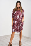 Latched Mama 3/4 Sleeve Swing Nursing Dress