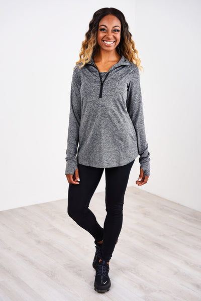 Latched Mama 1/4 Zip Performance Nursing Pullover