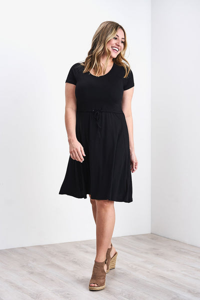 Latched Mama Drawstring T-Shirt Nursing Dress