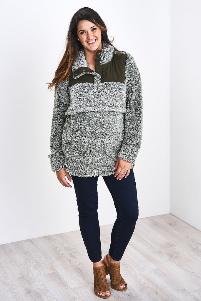 The Latched Mama Sherpa Nursing Pullover